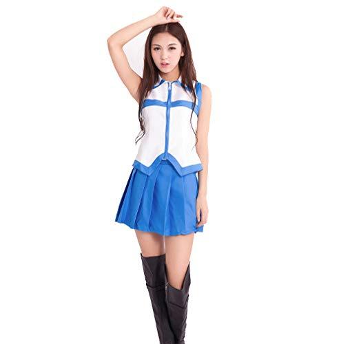 Memory meteor Frauen Fairy Tail Lucy Heartfilia Kleid Cosplay Kostüme Tops und Röcke,Topsandskirts,M (Lucy Cosplay Kostüm)