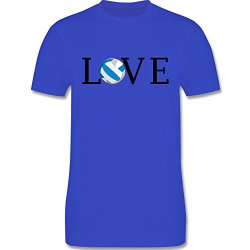 Volleyball - Volleyball Liebe Love - Herren Premium T-Shirt Royalblau