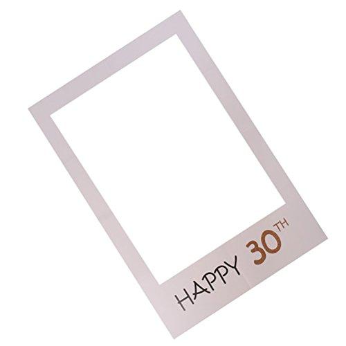 to Booth Requisiten Rahmen Happy 30. DIY Papier Bilderrahmen Ausschnitte für Geburtstagsparty (Diy Photo Booth Frame)