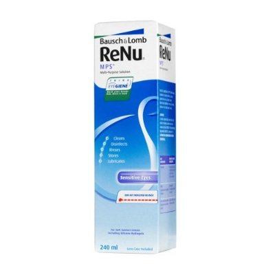 Jumbo pack of 4 x 240ml Bausch & Lomb ReNu MPS Multi-Purpose Contact Lens Solution - 960ml in total