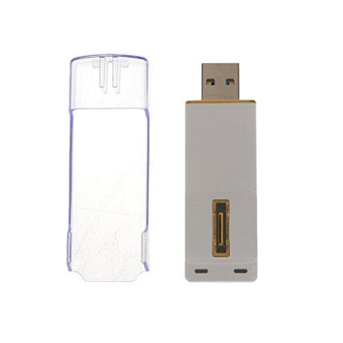 MagiDeal 1pcs 16GB USB Micro Flash Lecteur Empreinte Digitale Cryptée Capteur Memory Stick Blanche Portable
