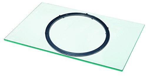 fernseher drehscheibe VCM TV Drehplatte Fernseh Drehteller Drehbühne Glas Drehbar Klarglas 40 x 90 x 2 cm
