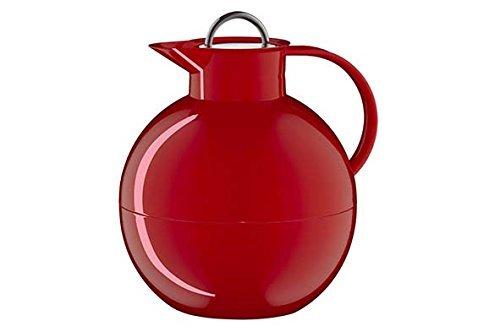 alfi 0105.031.094 Isolierkanne Kugel Sonderedition, Kunststoff glatt Rot 0,94 l, 12 Stunden heiß, 24 Stunden kalt, mit Edelstahl-Drehverschluss