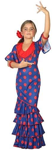 Fancy Me Mädchen Kostüm Spanische Flamenco-Tänzerin Around The World, 3-12 Jahre, Blau