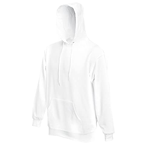 Fruit of the Loom - Sweat-shirt - Moderne - Homme X-Large - blanc - Large