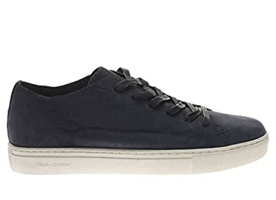 Crime London Homme Basket 11278KS1 40 Basket en Cuir Homme - Bleu, 40 EU