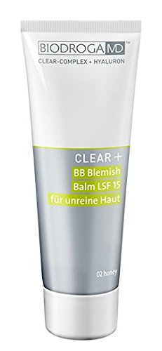 BiodrogaMD CLEAR+ BB Blemish Balm 02 honey 75 ml