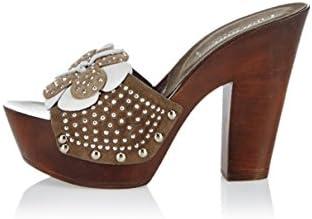 CAFèNOIR - Zapatillas de estar por casa de cuero para mujer