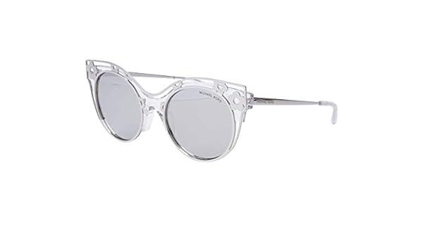c63660f84079 Michael Kors MK 1038 30506G Melbourne Crystal Clear Metal Cat-Eye Sunglasses  Silver Mirror Lens: Amazon.co.uk: Clothing