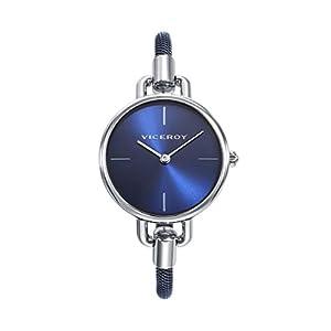 Viceroy Reloj Mujer correa de acero, plata/azul