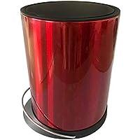 HUIFANG Inteligente De Inducción Automática Bote De Basura Hogar Sala De Baño Interior Eléctrico Acero Inoxidable con Cubierta Tubo 8L A (Color : Red)