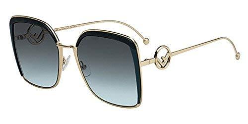 Fendi Damen Sonnenbrille Grün Green Gold/Green 58