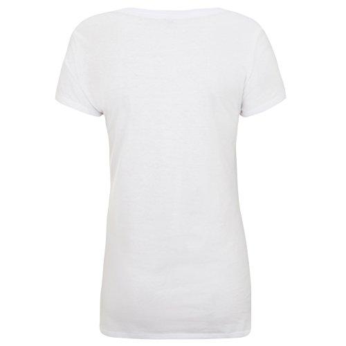 HASHTAGSTUFF Damen T-Shirt mit Aufdruck / verschiedene Sprüche auswählbar / Weiß / Spruch / Print / Kurzarm / Hipster / Frauen / Mädchen / Girls Unicorn