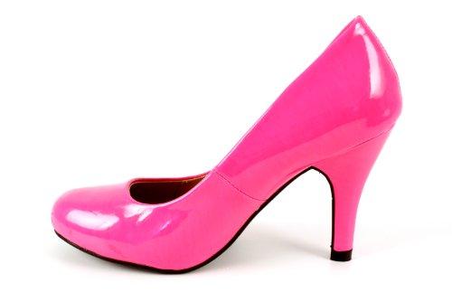 Andres Machado.AM422.Escarpins . Forme et talon classiques de 9 cm. Pointe de pied arrondie. Pour toutes les pointures de la 32 à la 45.… Acid Fuschia