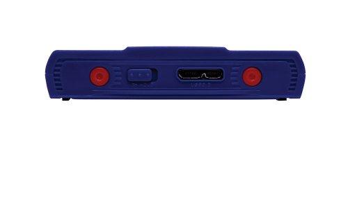 Verbatim GT SuperSpeed externe Festplatte 500GB (6,4 cm (2,5 Zoll), 5400rpm, 8MB Cache, USB 3.0) blau/weiß