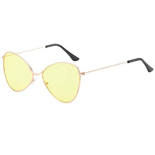 Qiuqiu Home Brille Fancy Design Sonnenbrillen Metallspiegel Halbrandlose Brillen für Männer, Frauen