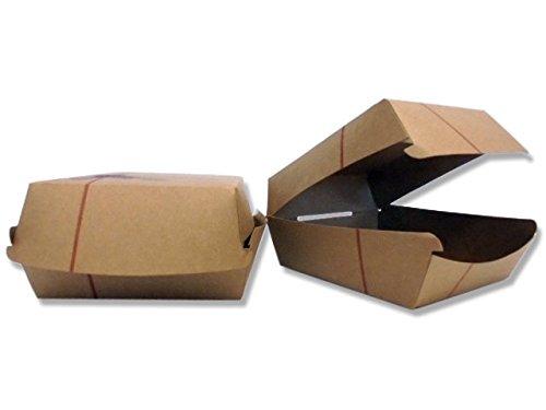 PZ 100 BOX PANINO MEDIO 12 X 12 CM PORTA HAMBURGER E SANDWICH IN CARTA BOXBURGER IN CARTONCINO KRAFT ALIMENTARE PER ASPORTO TAKE AWAY