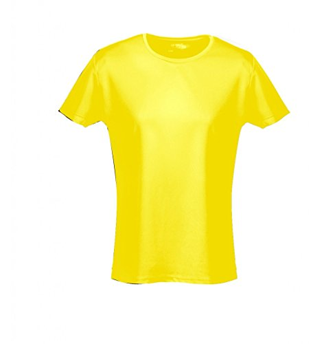 (Just Cool Damen Sport T-Shirt unifarben (Medium) (Sonnengelb) M,Sonnengelb)