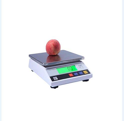 GJJ Elektronische Preiskalkulation Der Küchenpräzisionsbatterieversion - Wiegende Elektronische Skala - Elektronische Skala Der Batterie,Weiß,5kg