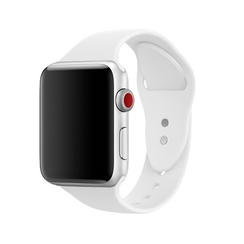 Sport Apple Watch (Für Apple Watch Armband 42mm, ToveLo weich Silikon Ersatz Sport iWatch Armbändern für Apple Watch Serie 1, Serie 2,Serie 3,Sport,Edition,Hermès, S/M Weiß)