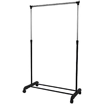 vidaXL Clothes Rack 59x35x150cm Black Garment Coat Closet Organiser Stand