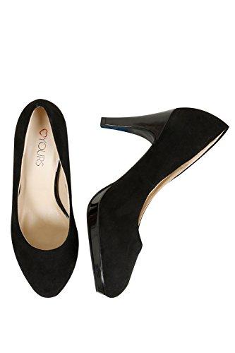 yoursclothing Plus Taille pour femme en suédine Cour Chaussures en coupe Eee Noir - Noir