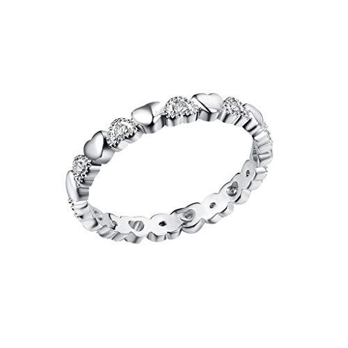 UINGKID Schmuck Damen Ring Wunderschöne kreative runde Liebe Diamanten Geständnis Damen Ring Schmuck