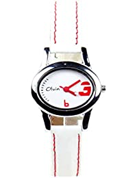 Olvin Analog White Dial Women's Watch - 1603SL05