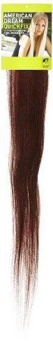 American Dream - A1/QFC12/24/080-100% Cheveux Naturels - Barrette Unique Extensions à Clipper - Couleur 080 - Brun Foncé Moka - 61 cm