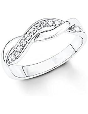 s.Oliver Damen-Ring 925 Silber rhodiniert Zirkonia weiß - 5236