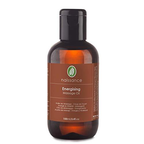 Naissance Huile de Massage Énergisante, 100ml, Mélange 100% Naturel d'Huile de...