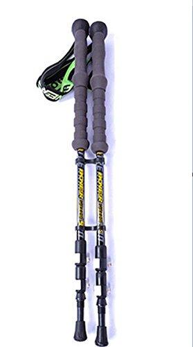 Wandern Stick Leicht Aero Carbon Fiber High-Density EVA Griff Äußere Verriegelung 3 Sektion Verstellbare Trekking Stöcke Walking Stick Alpenstock für Ski Wandern Trekking , 2PC