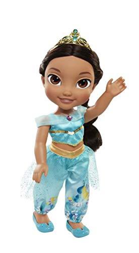 Jakks 78861 - Disney Princess Jasmin aus Aladdin, Puppe ca. 35 cm groß, beweglich, mit wunderschönem Kleid und Royal Reflection Augen, für Kinder ab 3 Jahre