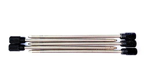 5x Ersatzminen für Kugelschreiber schwarze Tinte, D1 mini Kugelschreiberminen, (Länge 67mm Durchmesser 2mm) pen refills Kuli Minen für z.B. Pen-Again, Swarovski-Kristall (Harley Davidson 5x)