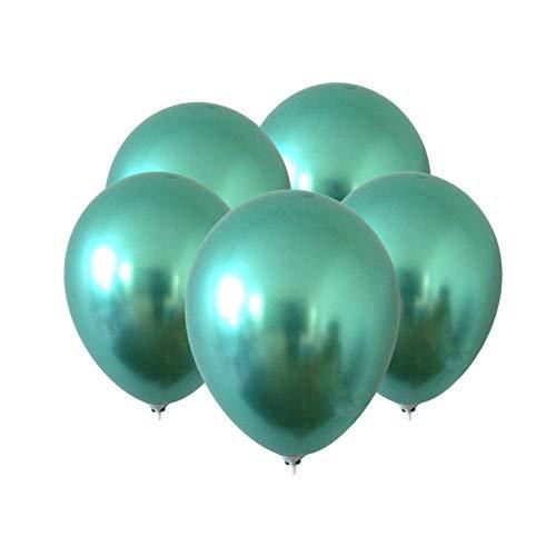 gzzebo Globos de látex de 12 Pulgadas para la Boda decoración de Fiesta de cumpleaños 5 Piezas Verde