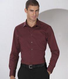 Russell Collection Herren Einfarbig Freizeit-Hemd Gr. xxxl, Braun - Chocolate (Oxford Uniform Button Down)