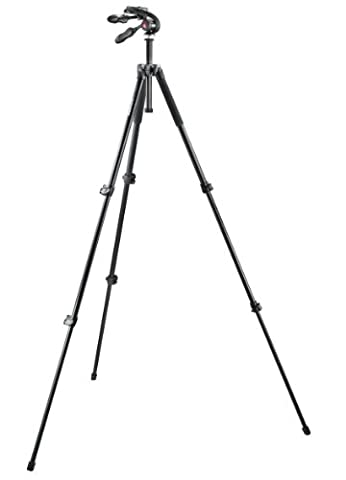 Manfrotto MK293A3-D3Q2 293 Aluminiumstativ-Set inkl. 3-Wege-Neiger