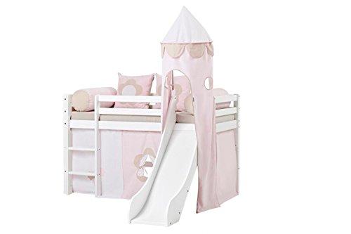 Tenda Tunnel Letto A Castello : Hoppe bambini lettino fairytale flower con scivolo torre tenda