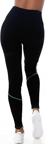 Veryzen Damen Leggings Fitness-Hose Sport Hoher Bund Workout Training Yoga Walking Laufen 34/36/38 Grün