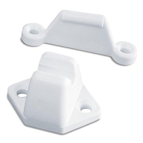 Preisvergleich Produktbild OCS Türfanger Set 2 tlg. weiss für Wohnmobil oder Wohnwagen
