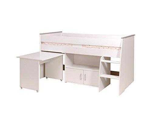 Parisot 2270Comb Set Möbel Kinderzimmer-Reverse Comb Weiß Megeve Holz -
