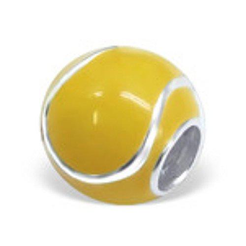 Tennis Ball Charm Bead In 925Prägung 925Sterling Silber–Gelb (Tennis Ball Charm)