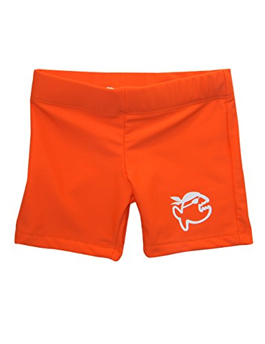iQ-Company Kinder Badehose 300 Kiddys Uv-Schutz Shorts, Orange (Siren), Gr. 104