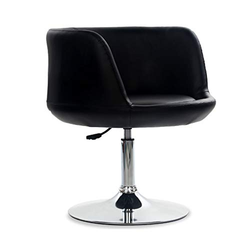 GXDHOME Hohe Barhocker, höhenverstellbare 360 Grad Swivel Weiche Bequeme PU Leder Chrom Edelstahl Esszimmer (Farbe : H)