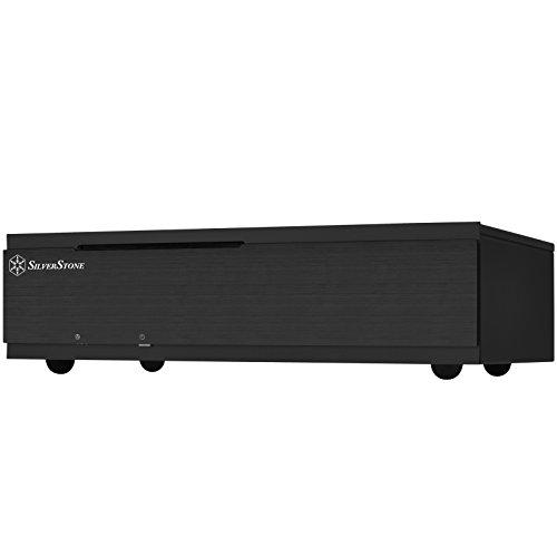 SilverStone SST-ML06B-E - Milo Boîtier PC Slim silencieux HTPC Mini-ITX, noir