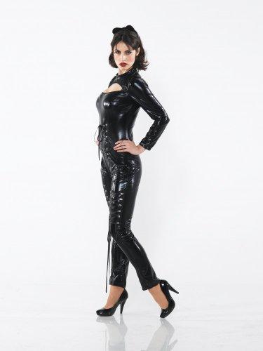 Sexy Kostüm CAT WOMAN im Latex-Look Gr.