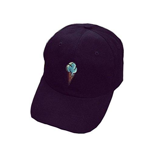 Imagen de xinantime sombrero,  de béisbol para gente joven sombreros ajustable negro