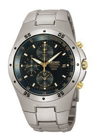 Reloj Seiko SND451P1 de caballero de cuarzo con correa de titanio gris - sumergible a 100 metros de Seiko