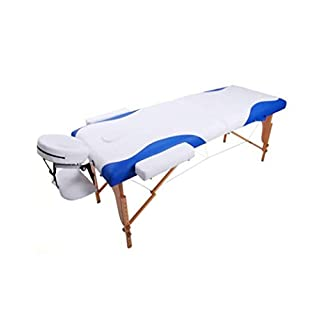 Portable Two-Fold Wooden Folding Massage Bed Light Recliner Bed Sofa Base Hydrotherapy Reiki Cure