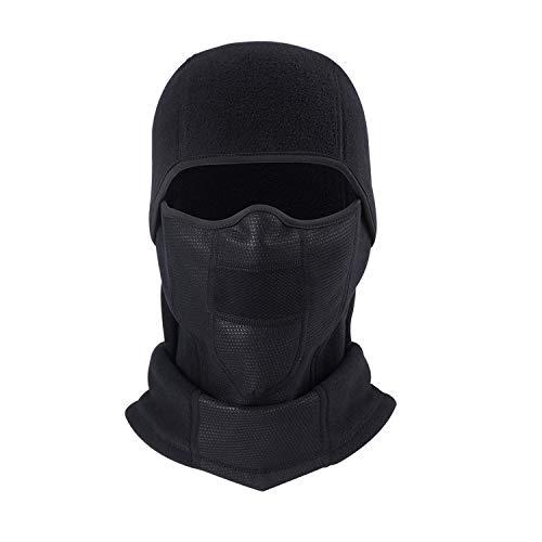 Aypow passamontagna caldo e traspirante, copertura per maschera a pieno facciale per ciclismo invernale con pannello a rete, scaldacollo sci in pile antivento per uomo e donna
